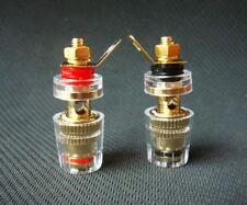 8Pcs Gold Plated Amplifier Speaker #S Terminal Binding Post 4mm Banana Plug Jack