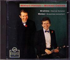Michael COLLINS & Mikhail PLETNEV: BRAHMS Clarinet Sonata No.1 2 WEBER Duo CD