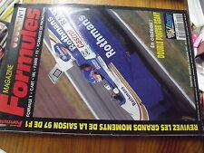µ?a Magazine Formules n°1  Poster Villeneuve Frentzen / Tout la Saison 1997
