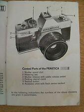 Instructions CAMERA PRAKTICA NOVA Pentacon