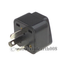 AU grounded Travel Adapter Australian AC Plug Adaptor US UK EU to AU Plug *Black