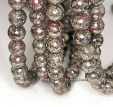 12MM RED IRON PYRITE INCLUSIONS GEMSTONE GRADE AA ROUND 12MM LOOSE BEADS 15.5""