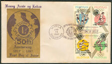 1967 Philippines 50TH ANNIVERSARY LIONS INTERNATIONAL First Day Cover