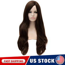 Natural Black Women Long Curly Full Synthetic Hair Party Nightclub Wig Cap Anime