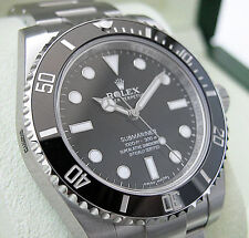 Rolex SUBMARINER NO DATE 114060 Mens Stainless Steel Oyster Ceramic Black 40MM