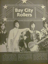 The Bay City Rollers, Ron Palillo, Full Page Vintage Clipping