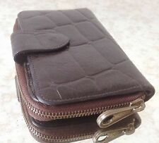 Mulberry Large Brown Congo Leather 3/4 Zip Around Wallet/Purse - VERY NICE!!