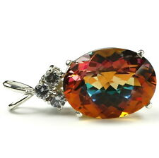 SP016, 20x15mm, 22ct Twilight Fire Topaz Sterling Pendant