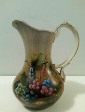 VTG Water Pitcher Vineyard Blessings Painted by Lisa White with Grapes & Vines