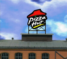 Animated Billboard Neon Sign Pizza Hut great for HO N rooftop building roadsid