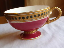 ANTIQUE TC BROWN WESTHEAD & MOORE MADE 25.9.1868 CHINA BURGUNDY GOLD TEA CUP