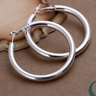 Fashion Woman's Accessories 5MM Decent Circle Hoop Earrings FE149, 925 Silver