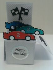 racing cars themed pop up card
