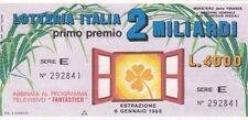 Biglietto lotteria Italia del 1988