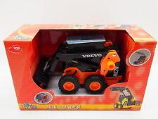 LOT 14652 Dickie Volvo Mini Bagger Loader Radlader 14cm orange Friktions-A. NEU