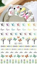 NAIL ART Designer Logo WATER TRANSFERS STICKERS DECALS! Nail Decals! Art Design!