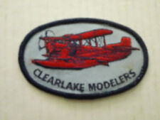 Clearlake Modelers R/C M Model Aircraft Club Patch Sew on Applique Airplane