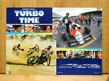 TURBO TIME fotobusta poster Auto Corsa Racing Car Driver Formula Uno Motorcycle