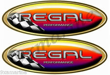 Two Regal Boat Oval Racing Decal Set - Name Plate