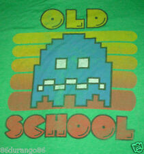 OLD SCHOOL PAC MAN PACMAN GREEN T SHIRT  SZ M GUC