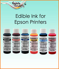 4 oz - 6 Color Edible Ink Refill Kits for Epson Printer