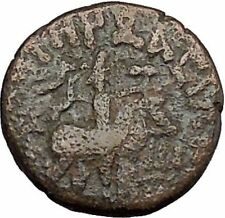 VIMA TAKTO Soter Megas on Horse Indo Kushan Empire in India Greek Coin i50542