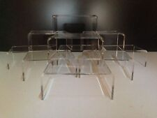 **10 PACK** CLEAR ACRYLIC,PERSPEX STANDS,RISERS,DISPLAY STANDS,PLINTHS,SHOP
