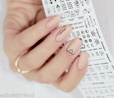 1 Sheet Nail Art Water Decals Geometric Figure Manicure Transfer Stickers DS306