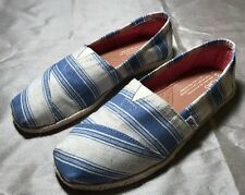 Toms Blue Blue Summer Striped Shoes Women Size 6.5 NEW
