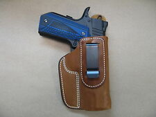 "S&W SW1911SC 1911 4.25"" IWB Leather In Waistband Conceal Carry Holster TAN RH"