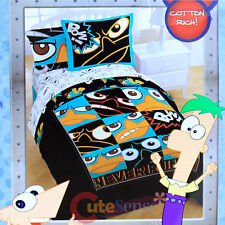 Phineas and Ferb Perry 5pc Twin Bedding Comforter Set with Sheets Pillow