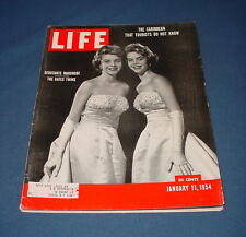 LIFE MAGAZINE JANUARY 11 1954 HOCKEY NEW YEARS FOOTBALL CARIBBEAN ISLANDS