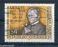 AUTRICHE, 1984, timbre 1592, GREGOR MENDEL, oblitéré