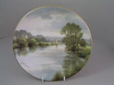 COALPORT PLATE BY DAVID DANE, THE TRANQUIL THAMES.