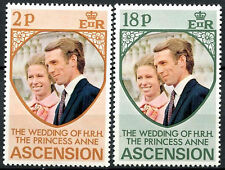 Ascension 1973 Royal Wedding MNH Set #R612