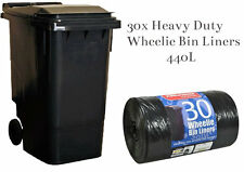 30 BLACK STD WHEELIE BIN LINERS STRONG REFUSE SACKS THICK BIG RUBBISH BAGS XXL