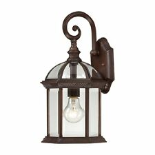 Nuvo Lighting 60-4962 Boxwood 1 Light 15-in Outdoor Wall Sconce w/Clear Seed Gla