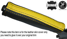 BLACK & YELLOW LEATHER EMERGENCY E BRAKE HANDLE COVER FITS CAMARO FIREBIRD 93-02