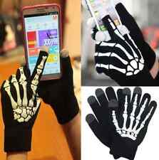 Touch Screen Gloves Cool MENS Black Skeleton iPhone Android Smart Phone Winter