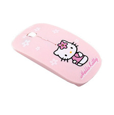 Wireless Mouse HelloKitty Computer Mice 2.4Ghz USB Pink Girl Pro Game Gift Cute