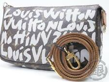 AUTH PRE-OWNED LOUIS VUITTON LV MONO GRAFFITI POCHETTE ACCESSOIRES M92192 160907