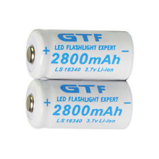 2Pcs Capacity 3.7V 2800mAh CR123A 123 Li-ion Rechargeable Battery Cells For Toy
