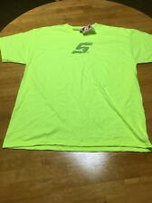 New Sealed 2X Large Snap On Neon Yellow Safety T Shirt