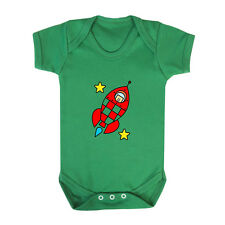 Red Rocket With Two Yellow Stars Infant Toddler Baby Cotton Bodysuit One Piece
