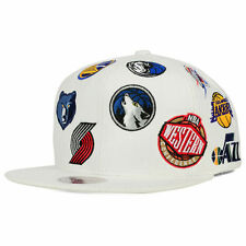 Mitchell and Ness NBA Western All Star West All Over Snapback Cap/Hat White $75