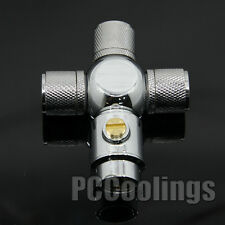 4 Way Adapter  Compression Fittings 3/8 ID 1/2 OD G1/4 For Water Liquid Cooling
