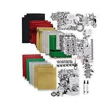 Anna Griffin Minc Holiday Die-cuts - Flitter  & Foil Sheets, Toner Sheets, Pens