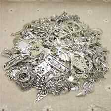 Bulk Lots 50g Antique Silver Mixed Pendants Charms DIY Jewelry Making free ship