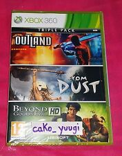 TRIPLE PACK BEYOND GOOD&EVIL+OUTLAND+FROM DUST XBOX 360 NEUF FRANCAIS