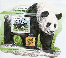 Sao Tome & Principe 2015 MNH Hong Kong 31st Int Exhib 1v S/S Giant Pandas Stamps